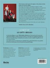 Le goût des Belges ; le best of - 4ème de couverture - Format classique