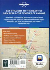 Siem Reap & the temples of Angkor (3e édition) - 4ème de couverture - Format classique
