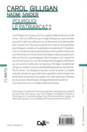 Pourquoi le patriarcat ? - 4ème de couverture - Format classique