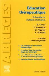 Éducation thérapeutique ; prévention et maladies chroniques (4e édition) - Couverture - Format classique
