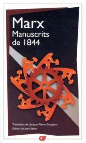 Manuscrits de 1844 - Couverture - Format classique
