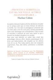 Les fantômes de Harvard - 4ème de couverture - Format classique
