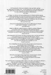La règle du jeu N.37 - 4ème de couverture - Format classique