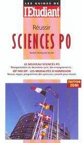 Reussir Sciences Po ; Edition 2001 - Intérieur - Format classique