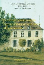 La vie des communautés cisterciennes au XVIIe siècle ; 54 cartes de visite - Couverture - Format classique