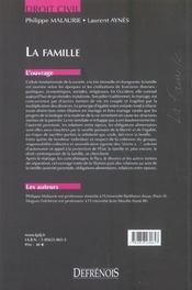 Famille (la) (édition 2004) - 4ème de couverture - Format classique