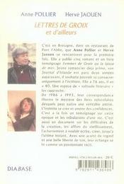 Lettres de groix et d'ailleurs - 4ème de couverture - Format classique