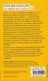 Le règne de Louis XIV t.1 - 4ème de couverture - Format classique