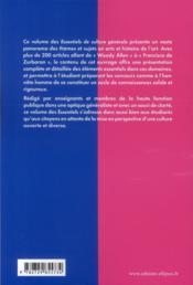 Les essentiels de culture generale ; arts - 4ème de couverture - Format classique