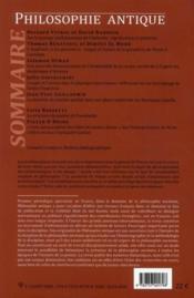 Revue Philosophie Antique N.10 ; Philosophie Et Mathématiques - 4ème de couverture - Format classique