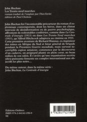 Les trente-neuf marches - 4ème de couverture - Format classique