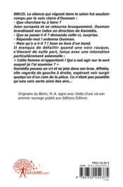 Dette D'Une Vie - 4ème de couverture - Format classique