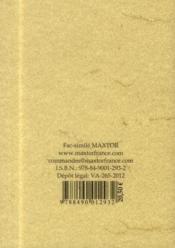 Regle et statuts secrets des templiers - 4ème de couverture - Format classique
