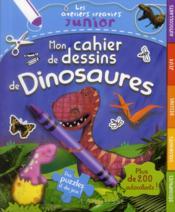 Mon cahier de dessins de dinosaures - Couverture - Format classique