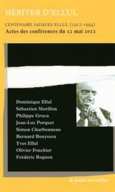 Hériter d'Ellul - Couverture - Format classique