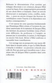 Hériter d'Ellul - 4ème de couverture - Format classique