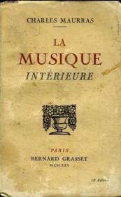 La Musique Interieure. - Couverture - Format classique