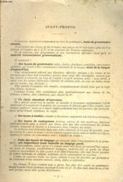 GRAMMAIRE FRANCAISE, CLASSE DE FIN d4ETUDE ET CLASSE DE 6e, C.E.P. ET BOURSES. - Couverture - Format classique