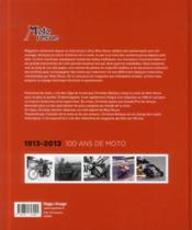 Moto revue ; 100 ans de moto ; 1913-2013 - 4ème de couverture - Format classique