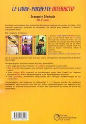 Economie generale ; bts ; 2e annee ; livre de l'eleve - 4ème de couverture - Format classique