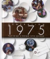 Génération 1975 - Couverture - Format classique