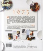 Génération 1975 - 4ème de couverture - Format classique