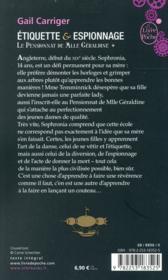 Le pensionnat de Mlle Géraldine T.1 ; étiquette & espionnage - 4ème de couverture - Format classique