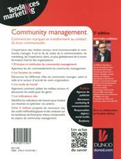 Community management ; comment faire des communautés web les meilleures alliées des marques - 4ème de couverture - Format classique