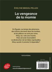 La vengeance de la momie - 4ème de couverture - Format classique