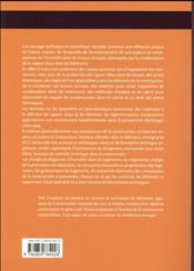 Condensations et moisissures dans les bâtiments - 4ème de couverture - Format classique