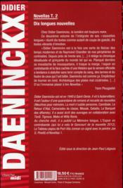 Novellas t.2 - 4ème de couverture - Format classique