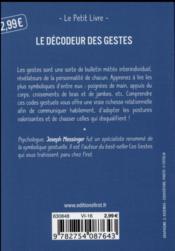 Le décodeur des gestes - 4ème de couverture - Format classique