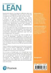 Le management lean (2e édition) - 4ème de couverture - Format classique