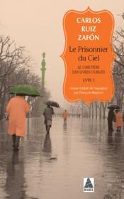 Le cimetière des livres oubliés t.3 ; le prisonnier du ciel - Couverture - Format classique