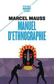 Manuel d'ethnographie - Couverture - Format classique