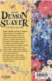 Demon slayer T.1 ; la fleur du bonheur - 4ème de couverture - Format classique
