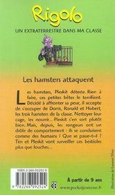 Rigolo t.40 ; les hamsters attaquent - 4ème de couverture - Format classique