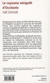 Le royaume wisigoth d'Occitanie - 4ème de couverture - Format classique
