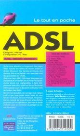 Adsl - 4ème de couverture - Format classique