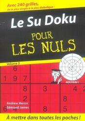 Le sudoku pour les nuls t.2 - Intérieur - Format classique