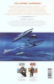 Star Wars - clone wars t.1; la défense de Kamino - 4ème de couverture - Format classique