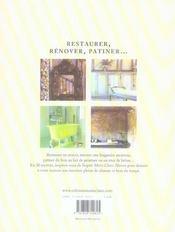 Restaurer, Renover, Patiner... - 4ème de couverture - Format classique