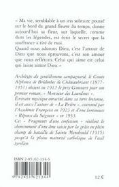 Fragments D'Une Confession ; De La Saintete - 4ème de couverture - Format classique
