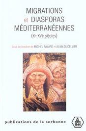 Migrations et diasporas mediterraneennes (xe-xvie siecles) - Intérieur - Format classique