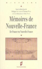 Memoires de nouvelle france - Intérieur - Format classique