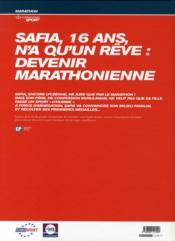 Le marathon de Safia - 4ème de couverture - Format classique