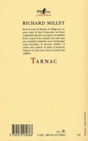 Tarnac - 4ème de couverture - Format classique