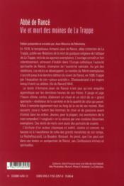 Vie et mort des moines de la trappe - 4ème de couverture - Format classique