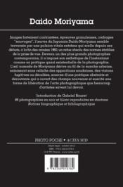 Daido Moriyama - 4ème de couverture - Format classique
