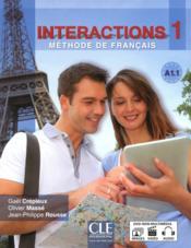 Interactions 1 A1.1 ; livre de l'élève - Couverture - Format classique